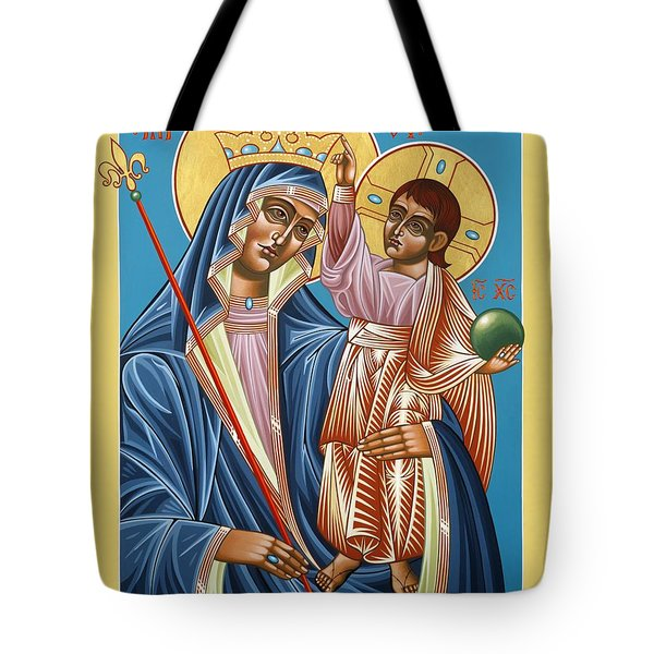 Tote Bag featuring the painting Mother Of God Asking For Humility 143 by William Hart McNichols