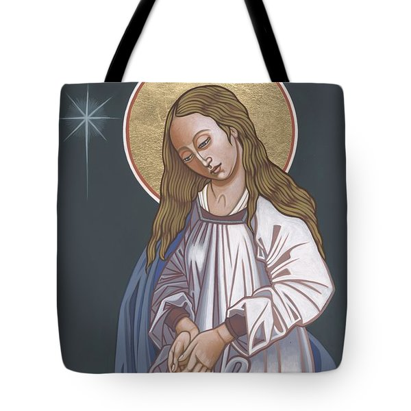 Mother Of God Waiting In Adoration 248 Tote Bag