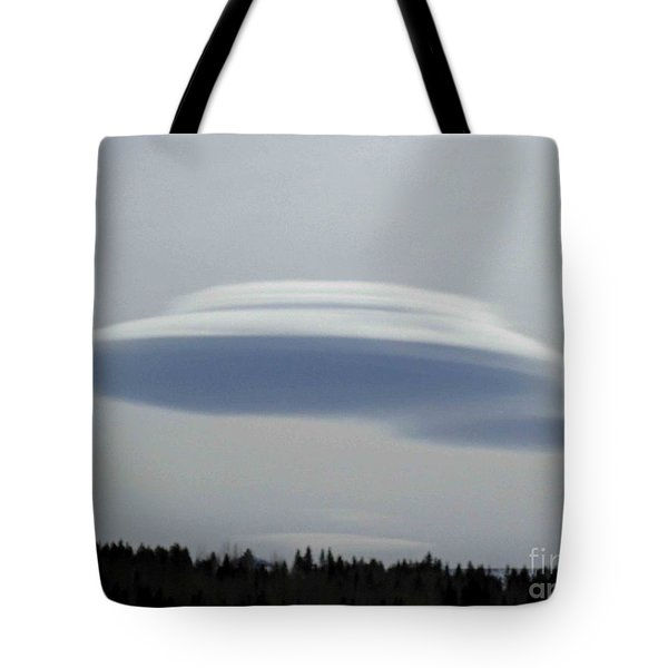 Tote Bag featuring the photograph Mother Ship by Fiona Kennard