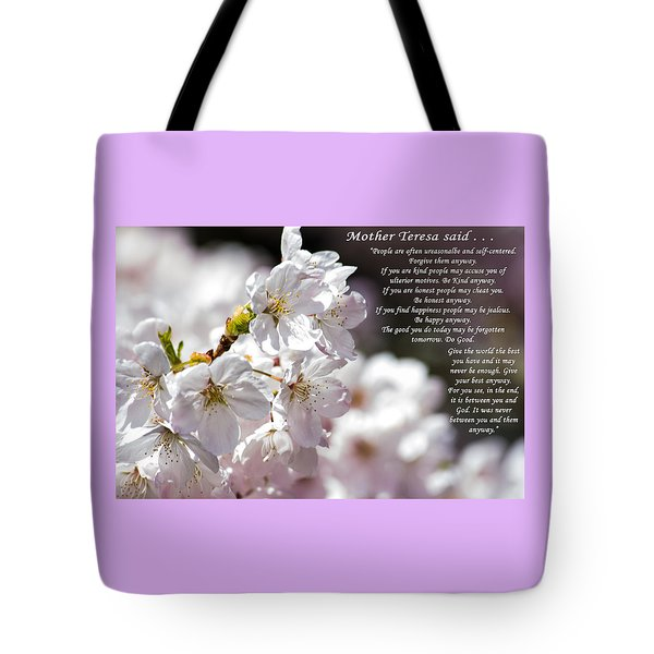 Mother Teresa Said Tote Bag by Tikvah's Hope