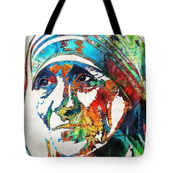 Mother Teresa Tribute By Sharon Cummings Tote Bag