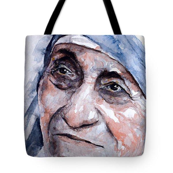 Mother Theresa Watercolor Tote Bag