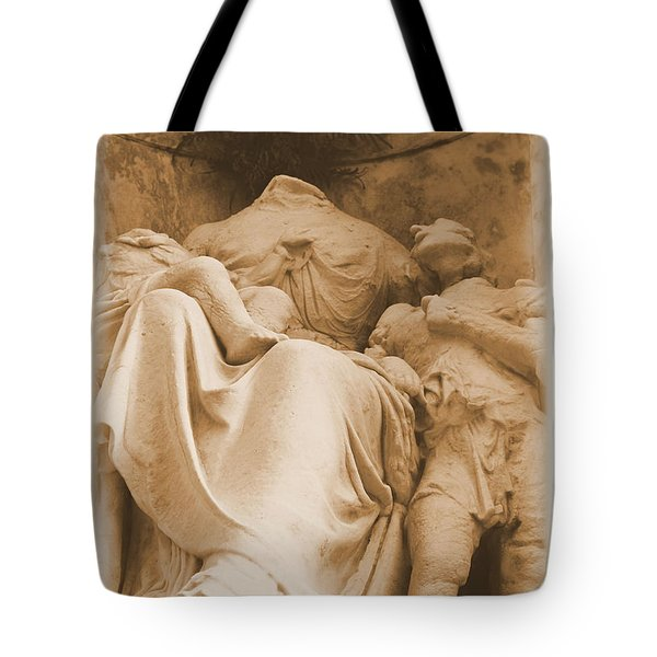 Tote Bag featuring the photograph Mother With Children by Nadalyn Larsen
