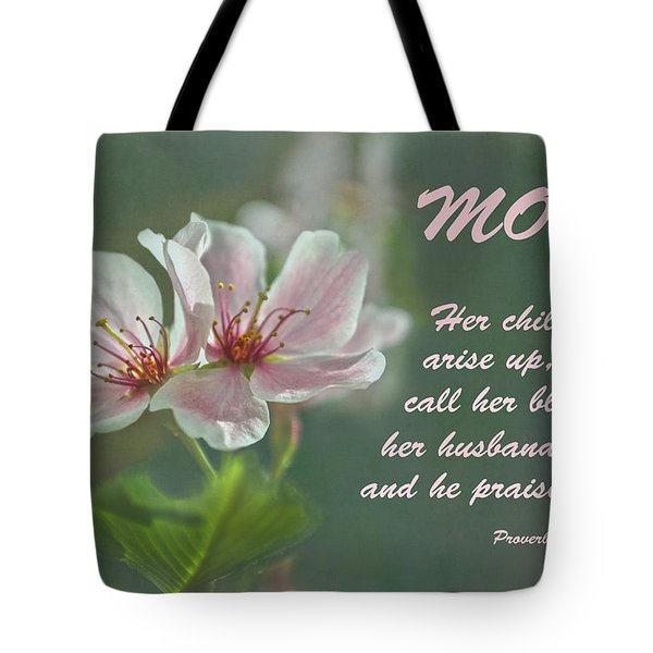 Mothers Day Card For Mom Tote Bag by Sandi OReilly