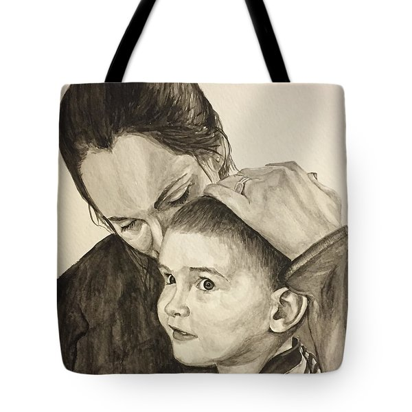 Tote Bag featuring the painting Mother's Love by Tamir Barkan