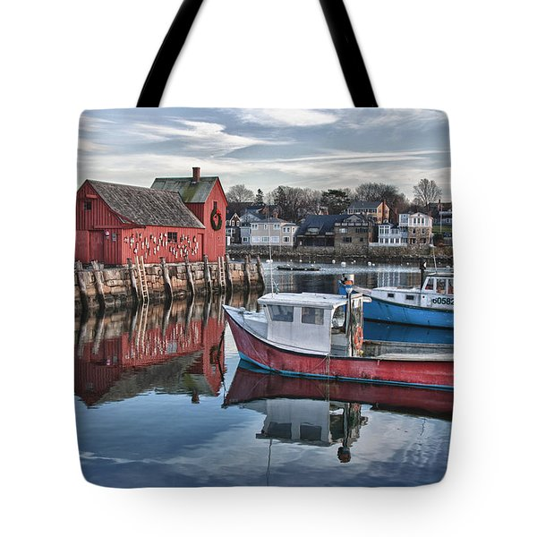 Tote Bag featuring the photograph Motif 1 Sky Reflections by Jeff Folger