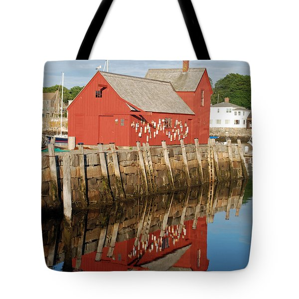 Tote Bag featuring the photograph Motif 1 With Reflection by Richard Bryce and Family