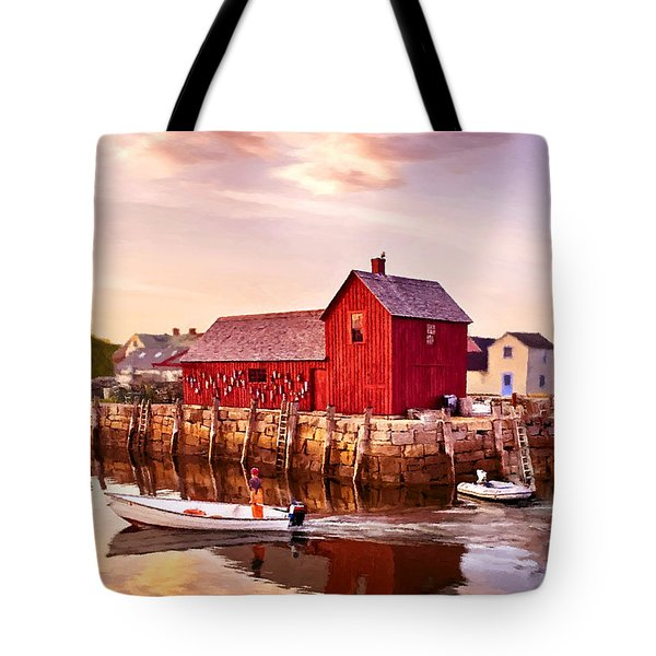 Motif Number One Rockport Massachusetts  Tote Bag