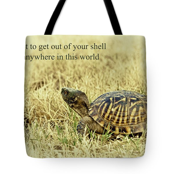 Motivating A Turtle Tote Bag by Robert Frederick