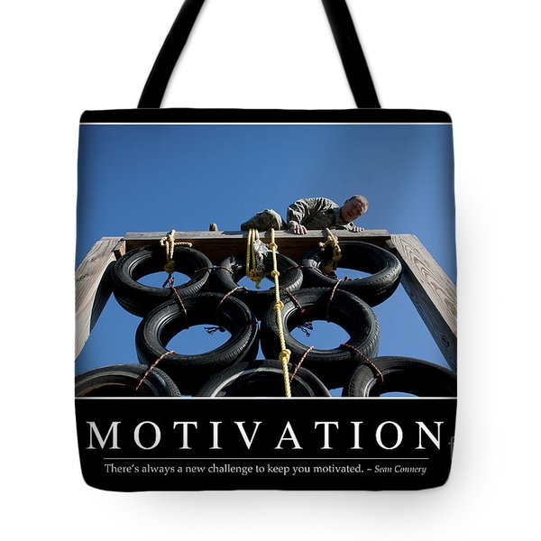 Motivation Inspirational Quote Tote Bag by Stocktrek Images
