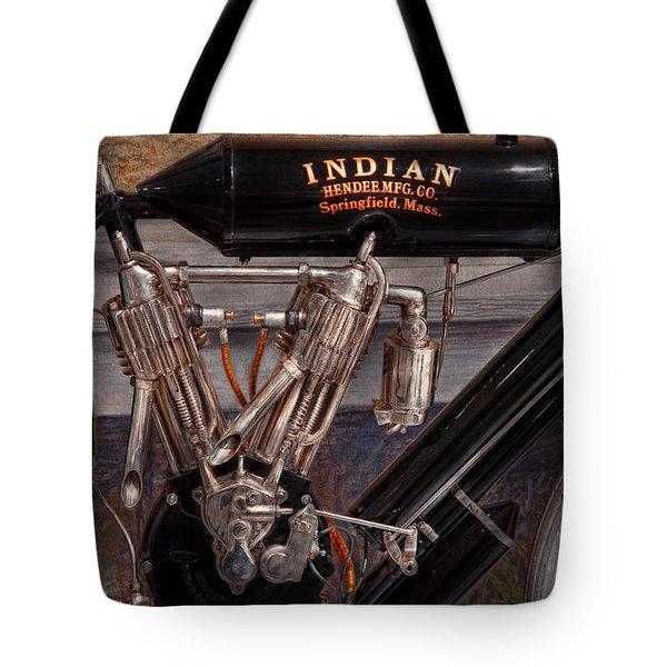 Motorcycle - An Oldie But A Goodie  Tote Bag by Mike Savad