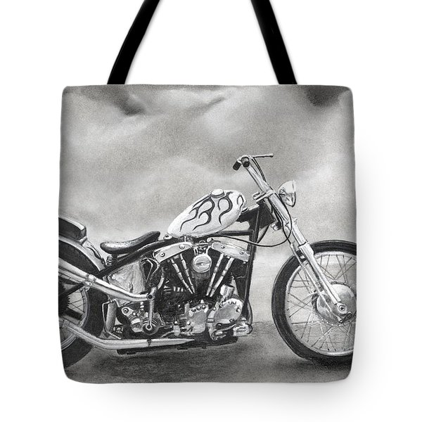 Motorcycle Tote Bag by Heather Gessell