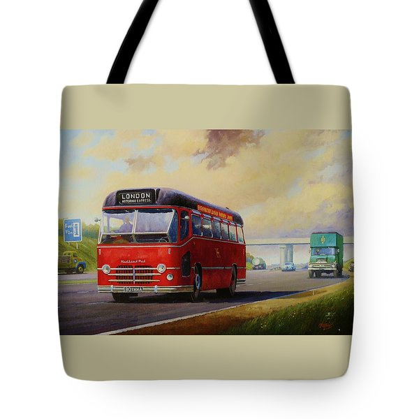 Motorway Express 1959. Tote Bag by Mike  Jeffries