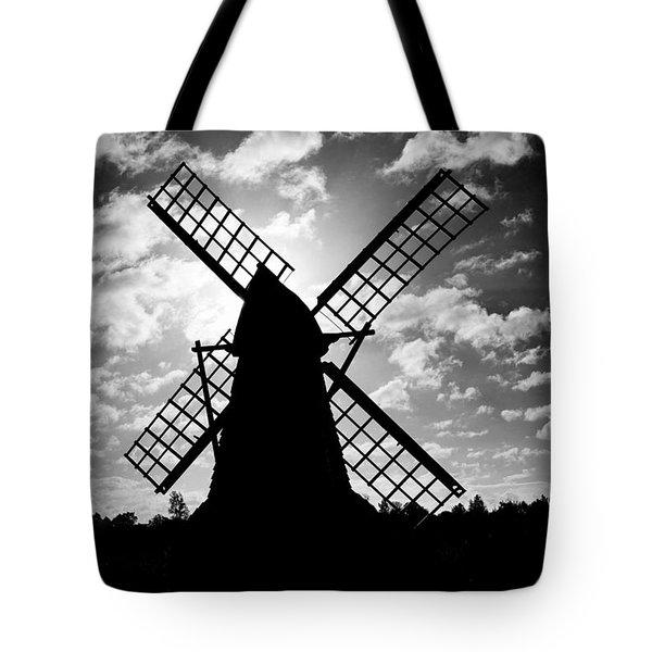 Moulin Noir- Monochrome Tote Bag