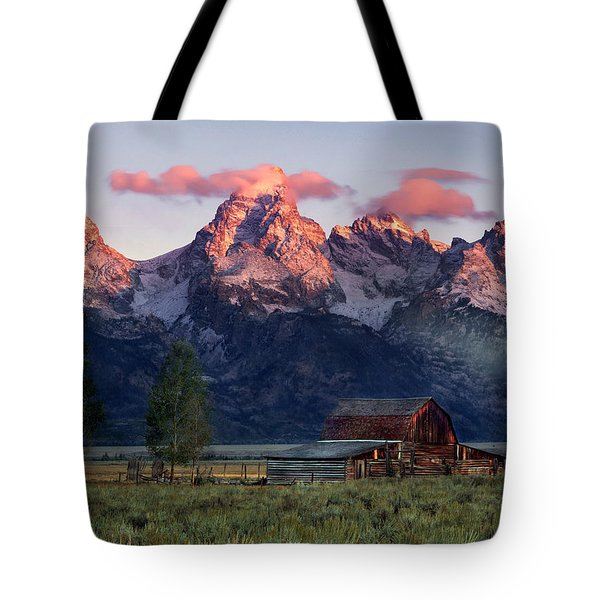 Tote Bag featuring the photograph Moulton Barn by Leland D Howard