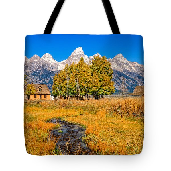 Tote Bag featuring the photograph Moulton Homestead by Greg Norrell