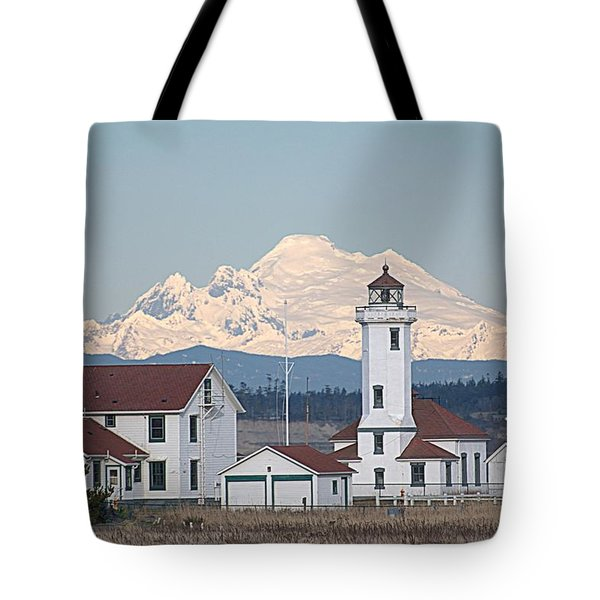 Mount Baker And Point Wilson Light Station Tote Bag