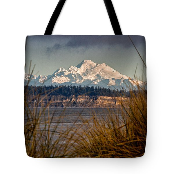 Mount Baker From Port Townsend Tote Bag