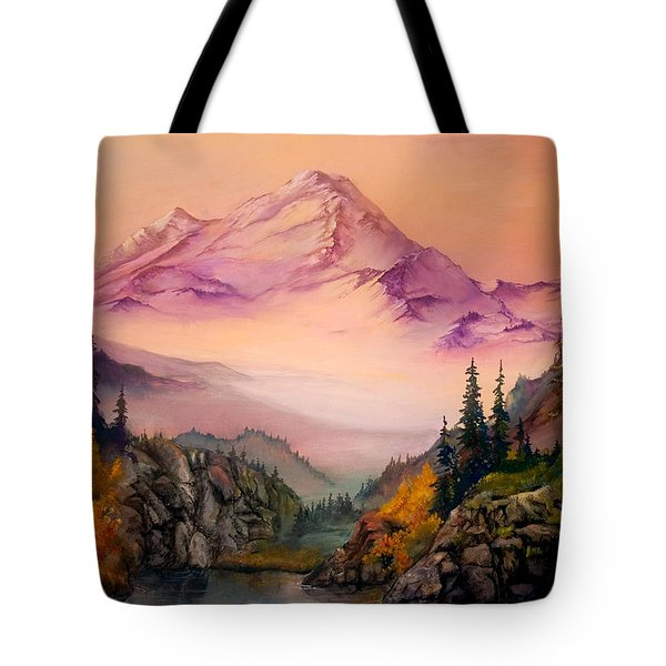 Mount Baker Morning Tote Bag
