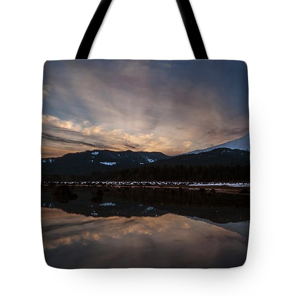 Mount Baker Sunset Tote Bag by Mike Reid