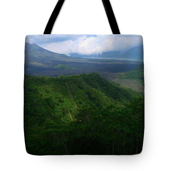 Mount Batur Bali Tote Bag