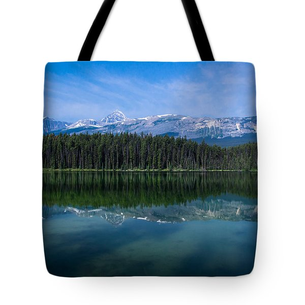 Mount Edith Cavell From Leach Lake.  Tote Bag