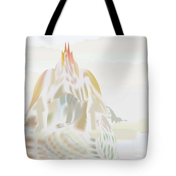 Tote Bag featuring the digital art Mount Helm by Kevin McLaughlin