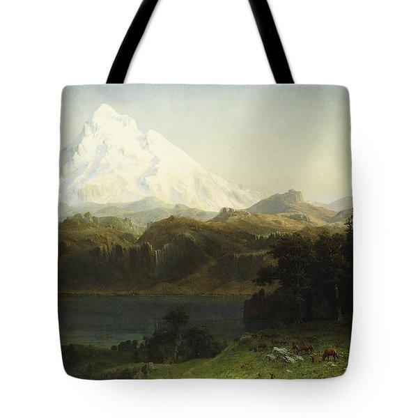 Mount Hood In Oregon Tote Bag