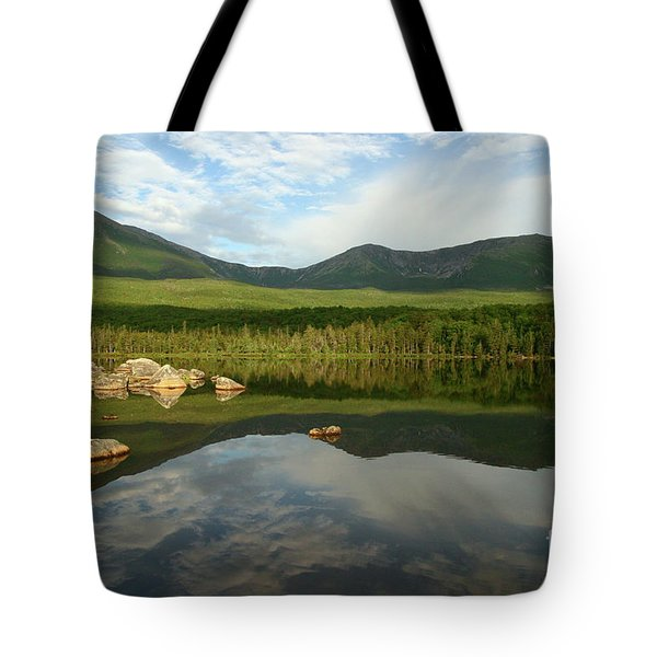 Mount Katahdin Tote Bag by Jeannette Hunt