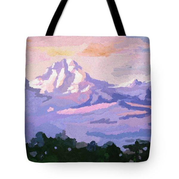 Mount Kenya At Dawn Tote Bag