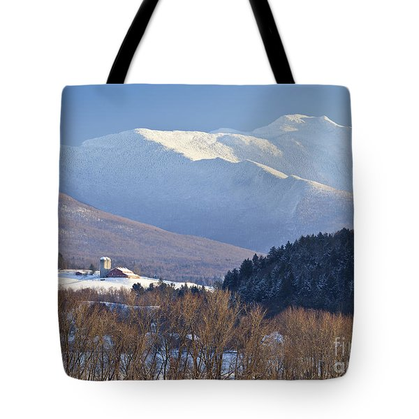 Mount Mansfield Winter Tote Bag by Alan L Graham