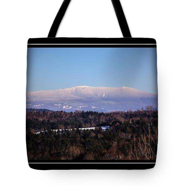 Mount Moosilauke Snowy Blanket Tote Bag