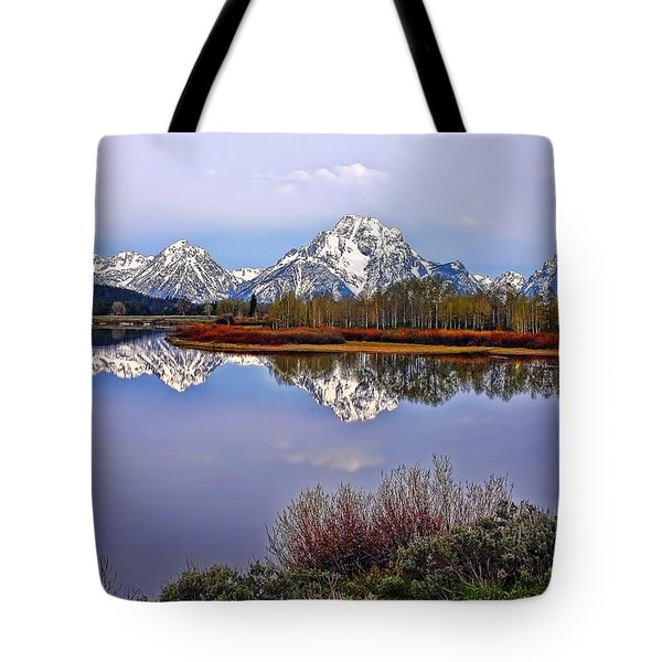 Mount Moran And Jackson Lake Tote Bag