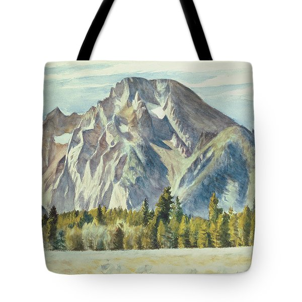 Mount Moran Tote Bag by Edward Hopper