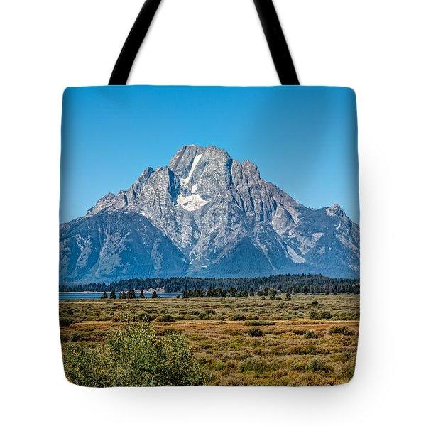 Mount Moran Tote Bag by John M Bailey