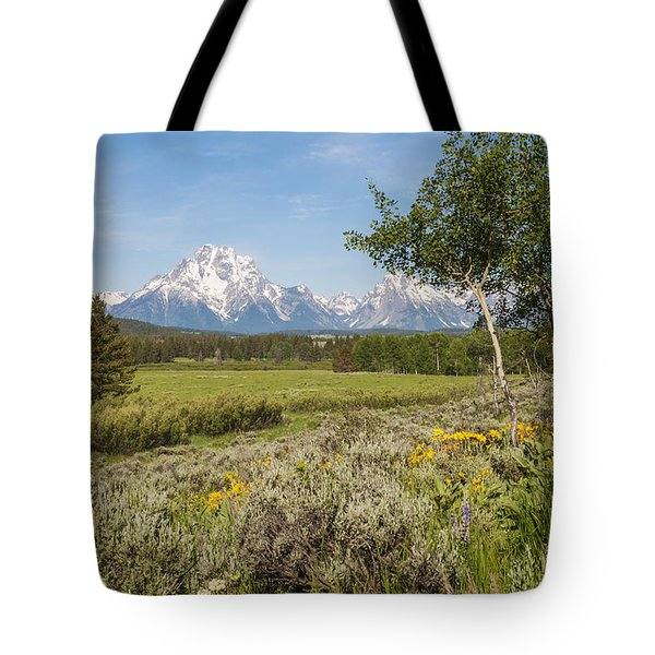 Mount Moran View Tote Bag by Brian Harig