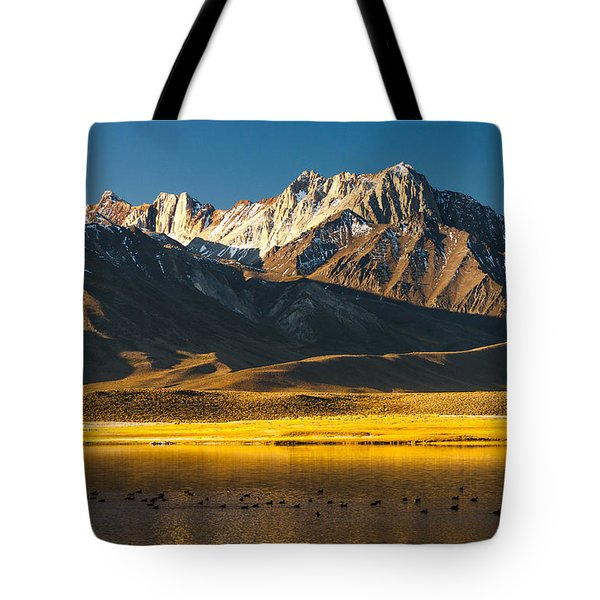 Mount Morrison At Sunrise Tote Bag by Joe Doherty