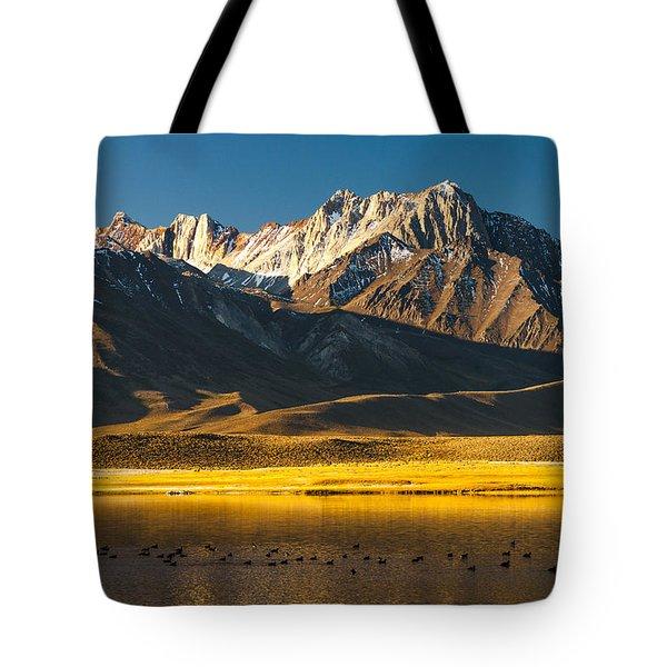 Mount Morrison At Sunrise Tote Bag