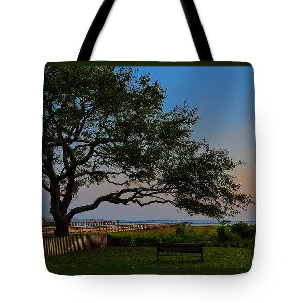 Mount Pleasant Sunset Tote Bag