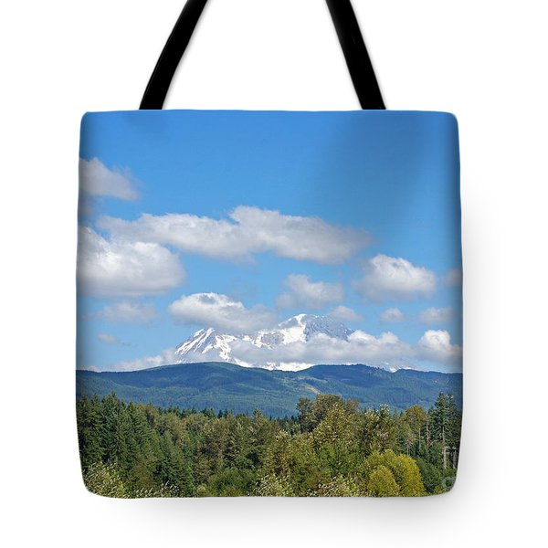 Mount Rainier As Viewed From The West Tote Bag by Connie Fox