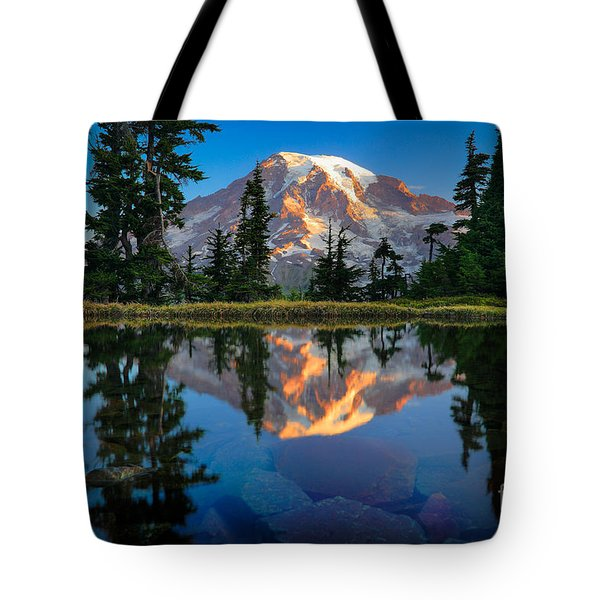 Mount Rainier From Tatoosh Range Tote Bag by Inge Johnsson