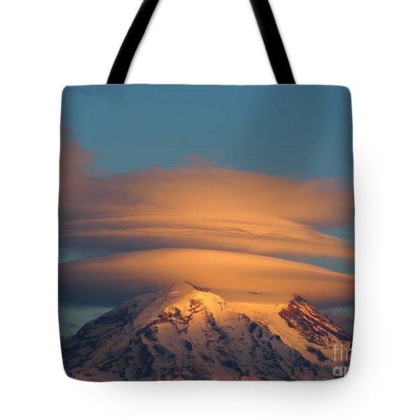 Mount Rainier In November  Tote Bag