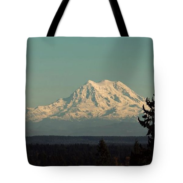 Tote Bag featuring the photograph Mount Rainier by Patricia Strand