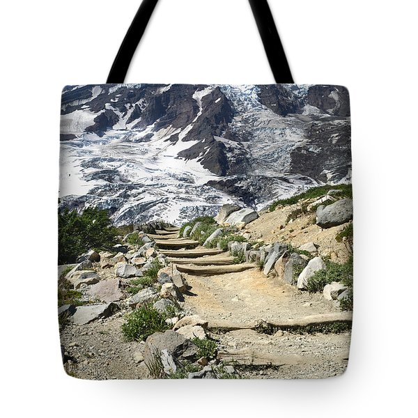 Mount Rainier Trail Tote Bag