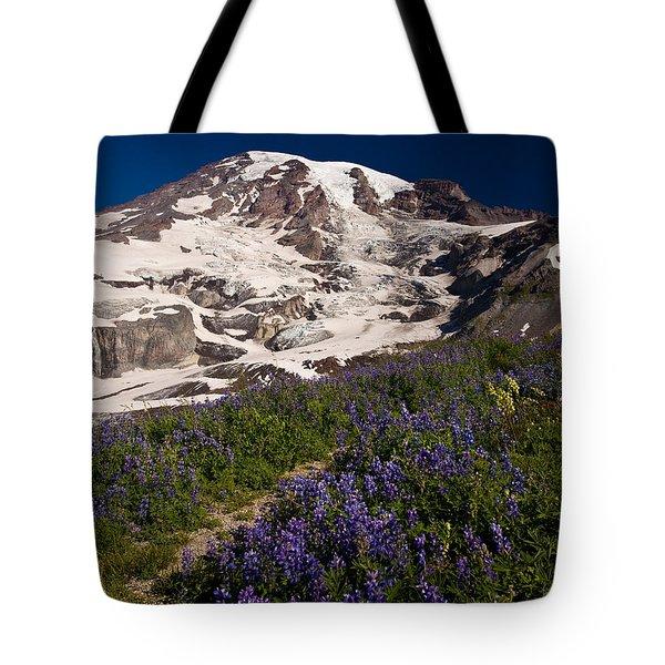 Mount Rainier Wildflower Meadows Tote Bag