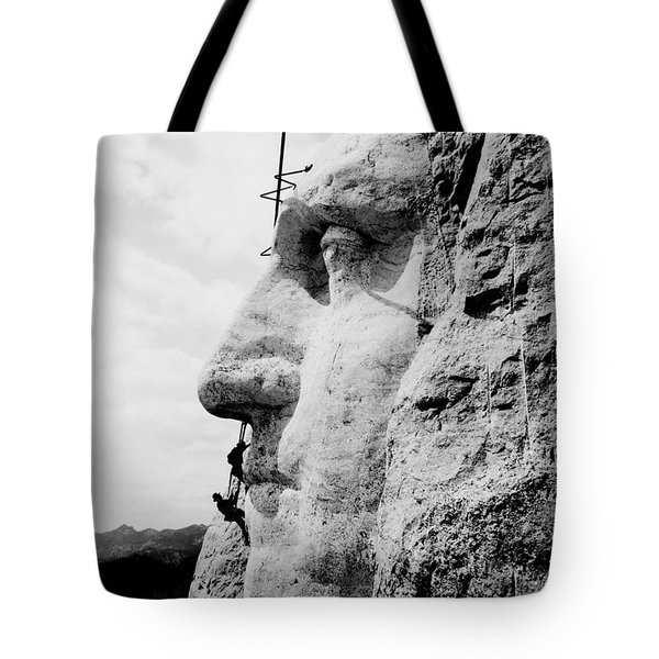 Mount Rushmore Construction Photo Tote Bag by War Is Hell Store