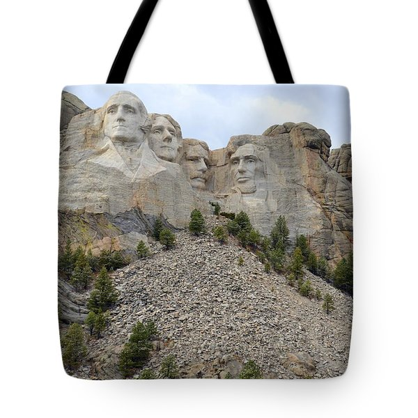 Mount Rushmore In South Dakota Tote Bag by Clarice  Lakota