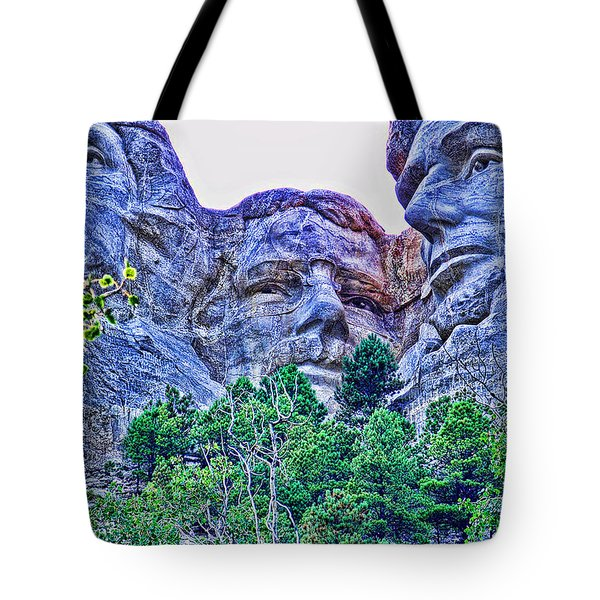 Mount Rushmore Roosevelt Tote Bag by Tommy Anderson