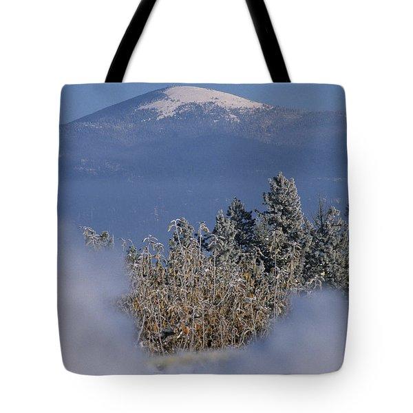 Mount Spokane Tote Bag by Sharon Elliott