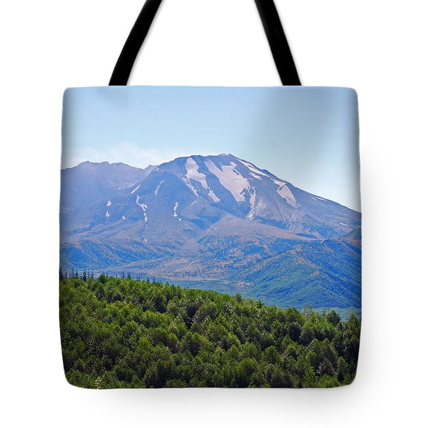 Mount St. Helens And Castle Lake In August Tote Bag